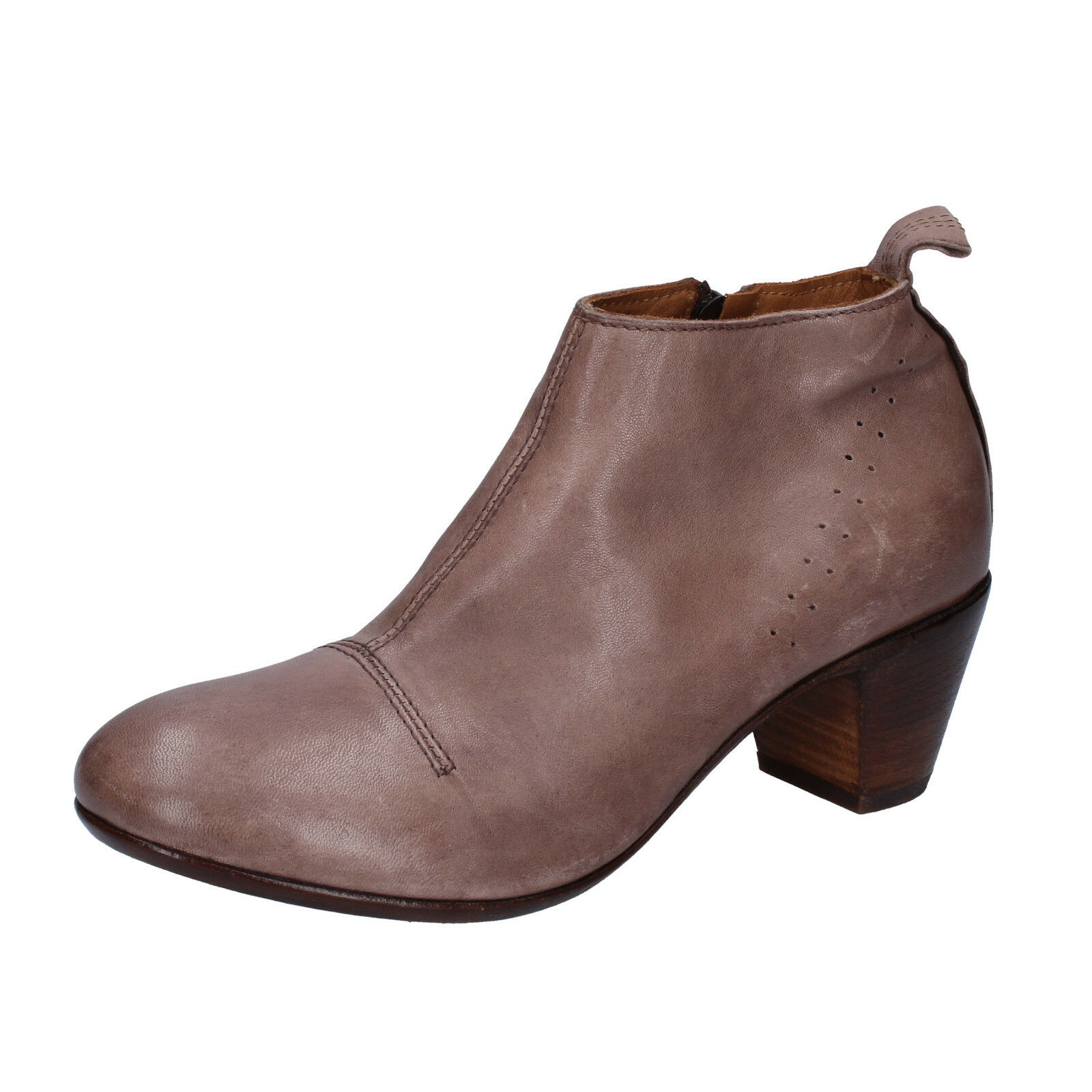 11f49cc67ea3b shoes 4 () ankle boots brown leather BT155-37 MOMA Women's neseca2838-Boots