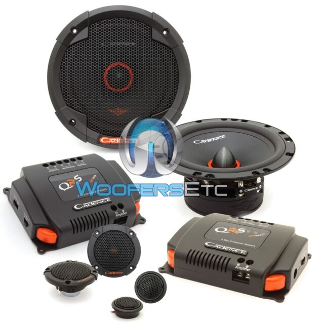 """CADENCE QRS6K3 6.5"""" 100W RMS 3-WAY COMPONENT SPEAKERS CROSSOVERS TWEETERS NEW"""