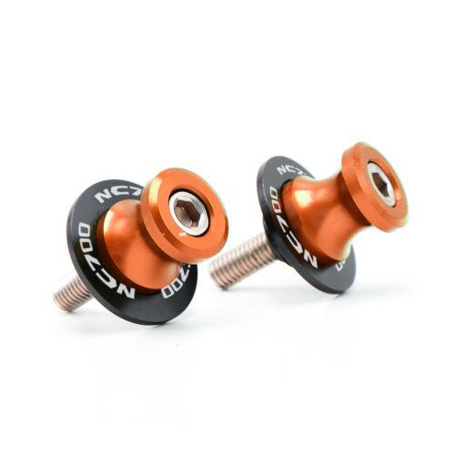 CNC Motorcycle Swingarm Sliders For Honda NC700X ABS 2012-2013 Stand Bobbins 8mm