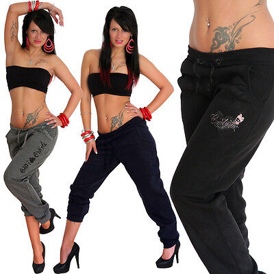 Sexy Sport Hose Strass Love Dance Sporthose Neon Laufhose Jogginghose Fitness