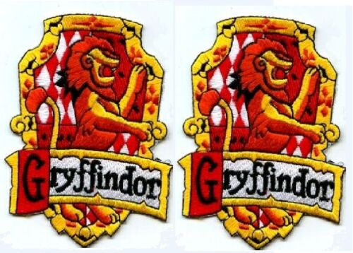 BRITISH PATCH HARRY POTTER COLLECTIONS HOGWARTS HOUSE OF GRYFFINDOR CREST PATCH