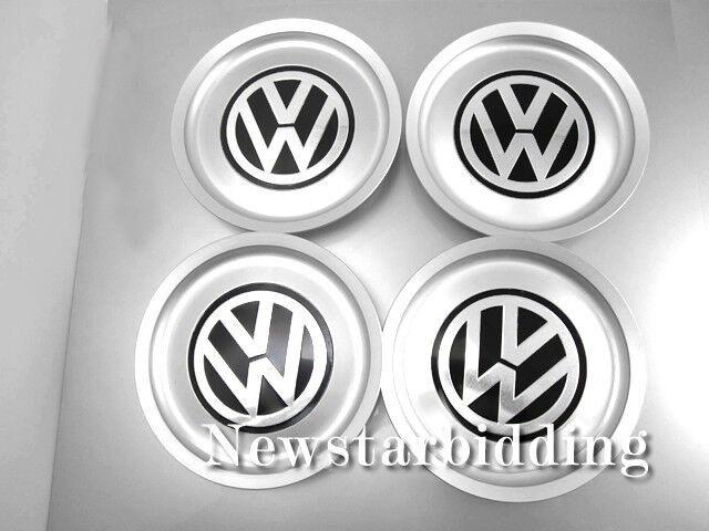 4PCS SET For VW Emblem Badge 155mm Wheel Center Caps Cover Hub 1J0 601 149 B