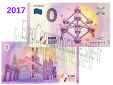 BEL - Billet Touristique Zéro Euro 2017 Atomium !