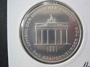 Bundbrd 10 Dm 1991 A Das Brandenburger Tor Silber 437 Ebay