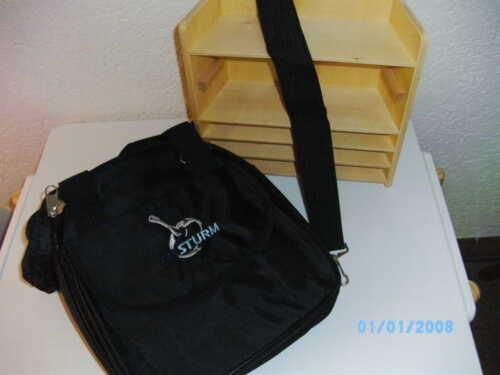Eisstocktasche Eisstrum für 5 Laufsohlen und Stockkörper Farbe schwarz