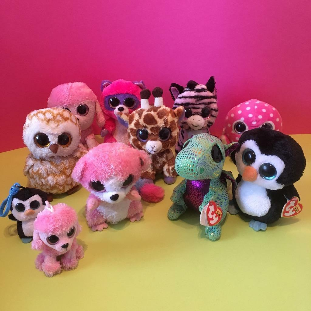 Ty Beanie Boos Small Plush Soft Toy Doll Bubblegum 6  Collection Job Lot Set x11