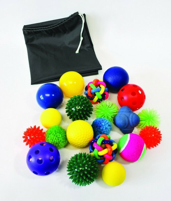 Sensory Sress Tactile Textured Balls - Set of 20 SEN ASD Motor Skills