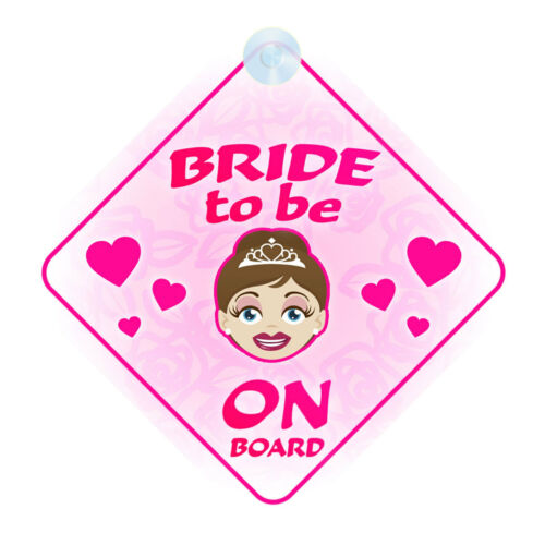 Bride To Be On Board Car Sign New Baby//Child Gift//Present