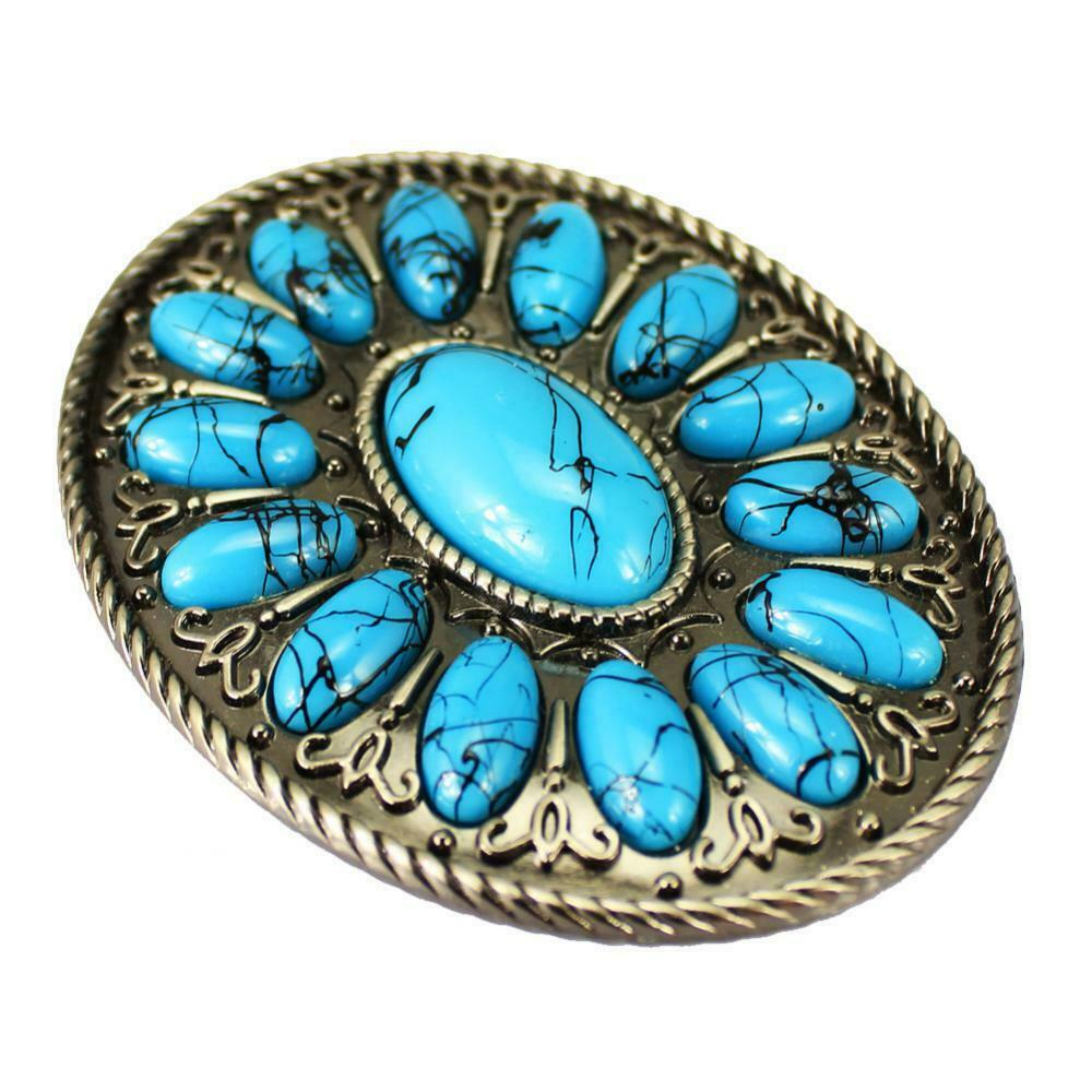 Vintage Belt Buckle Fashion Style Claw Turquoise Men Belt Buckle Accessories