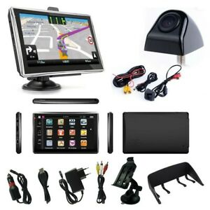 7 zoll navigationsger t f r lkw pkw gps auto navi mit r ckfahrkamera mit blitzer ebay. Black Bedroom Furniture Sets. Home Design Ideas