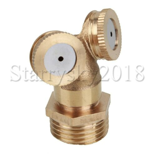 Brass Micro Garden Lawn Water Spray Misting Nozzle Sprinkler Irrigation System
