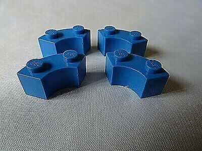 Lego 4567448 4x Part 2x2 Brick Round Corner Macaroni Light Grey 85080