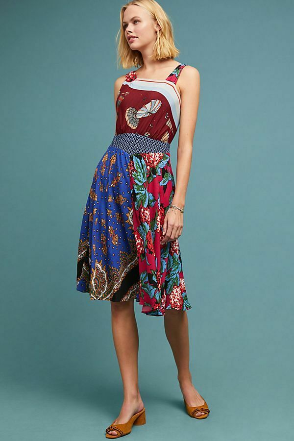 228   Anthropologie  Mildred Asymmetrical Dress new nwt size 14