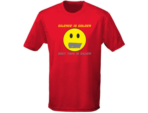 Silence Is Golden Out Funny Mens T-Shirt 12 Colours