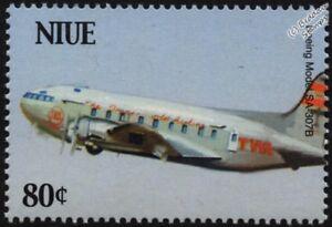 TWA-BOEING-307-STRATOLINER-Model-SA-307B-Airliner-Aircraft-Stamp-2003-Niue