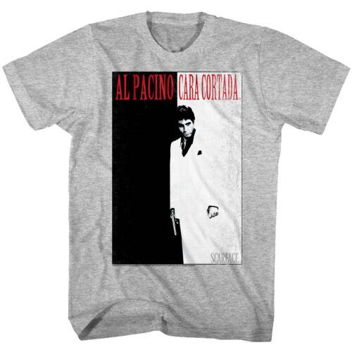 Scarface Al Pacino Cara Cortada Men/'s T Shirt Cuban Gangster Movie Tony Montana