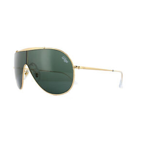 9e15fd6ed07 Ray-Ban Sunglasses Wings RB3597 905071 Gold Dark Green 8053672919523 ...