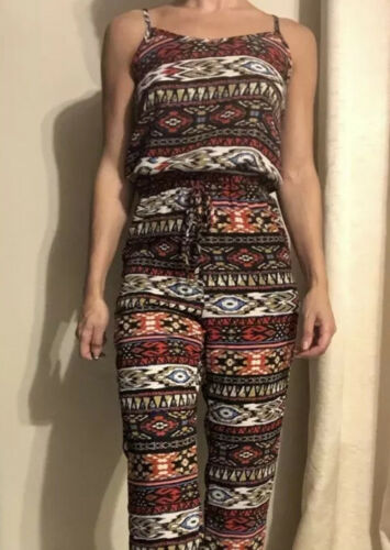 Tribal Print Romper / Play suit Small