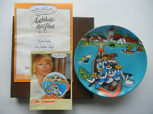 Elke-Summer-Plate-The-Merry-Village-on-Pond-With-Original-Package-No-2-64