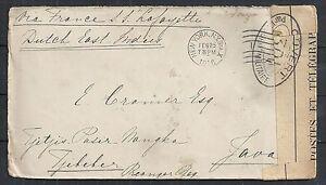 United States covers 1916 cens Shipcover NY to TJIBEBER