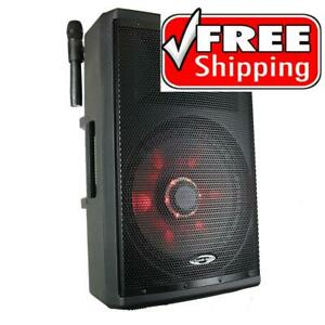 All New 2021 - Acoustic Audio 87-4515 TWS 15 1000 watt, Rechargeable Powered Speaker w/ 2 Wireless Microphones Canada Preview