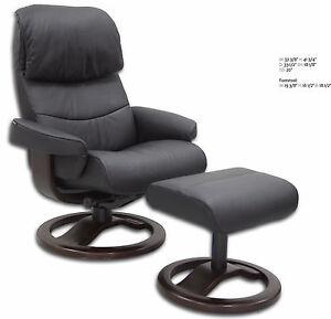 Black Leather Hjellegjerde Scansit 868 Ergonomic Lounge