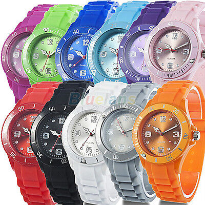 New Arrival Unisex Colorful Classic Stylish Silicon Jelly Strap Wrist Watch