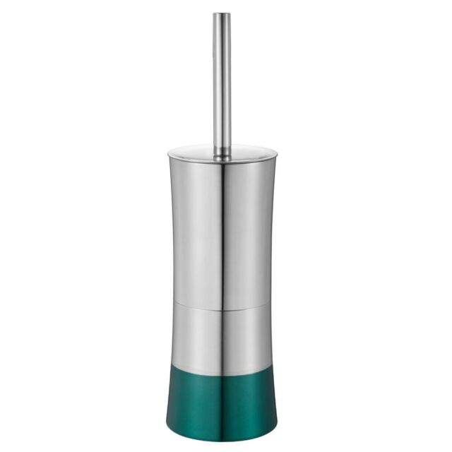 Toilet Brush with Decorative Stainless Steel Metal Container