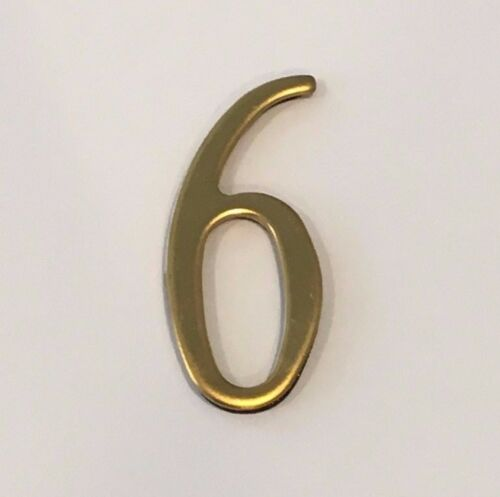 """Self Adhesive House numbers Address Numbers Mailbox numbers 2/"""" BRASS"""