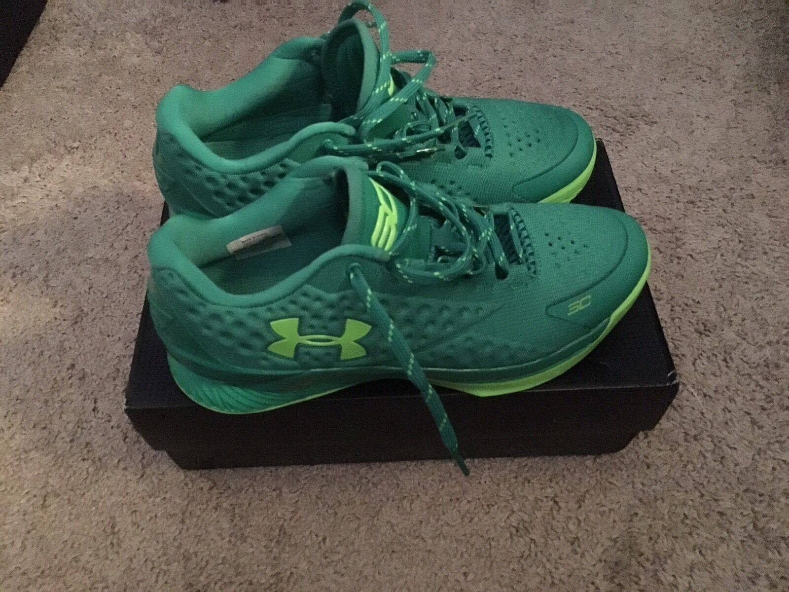 online store 4bb04 475e5 ... Under Armour Armour Armour Curry Low Size 9 In Lime Green d13729 ...