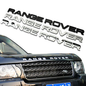 TARGHETTA SCRITTA ADESIVO RANGE ROVER LAND ROVER SPORT VOGUE EVOQUE DISCOVERY.