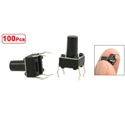 100Pcs 6x6x9.5mm PCB Momentary Tactile Tact Push Button Switch 4 Pin DIP BTSZUK