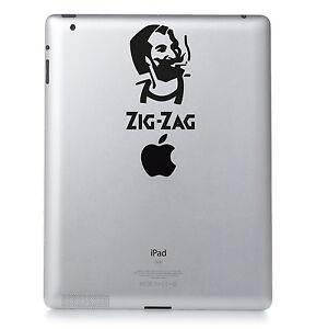 Zig Zag Cigarette Papers Roll Up Vinyl Decal Apple Ipad Macbook