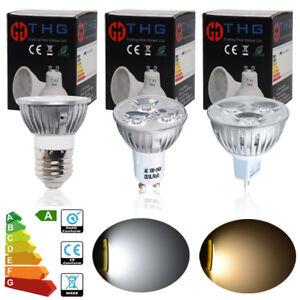 4-10x-4W-GU10-MR16-E27-LED-Ampoules-Projecteur-Jour-Blanc-Chaud-Reflecteur-Lampe