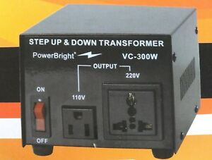 Image Is Loading Voltage Transformer 300 Watt Step Up Down Converter