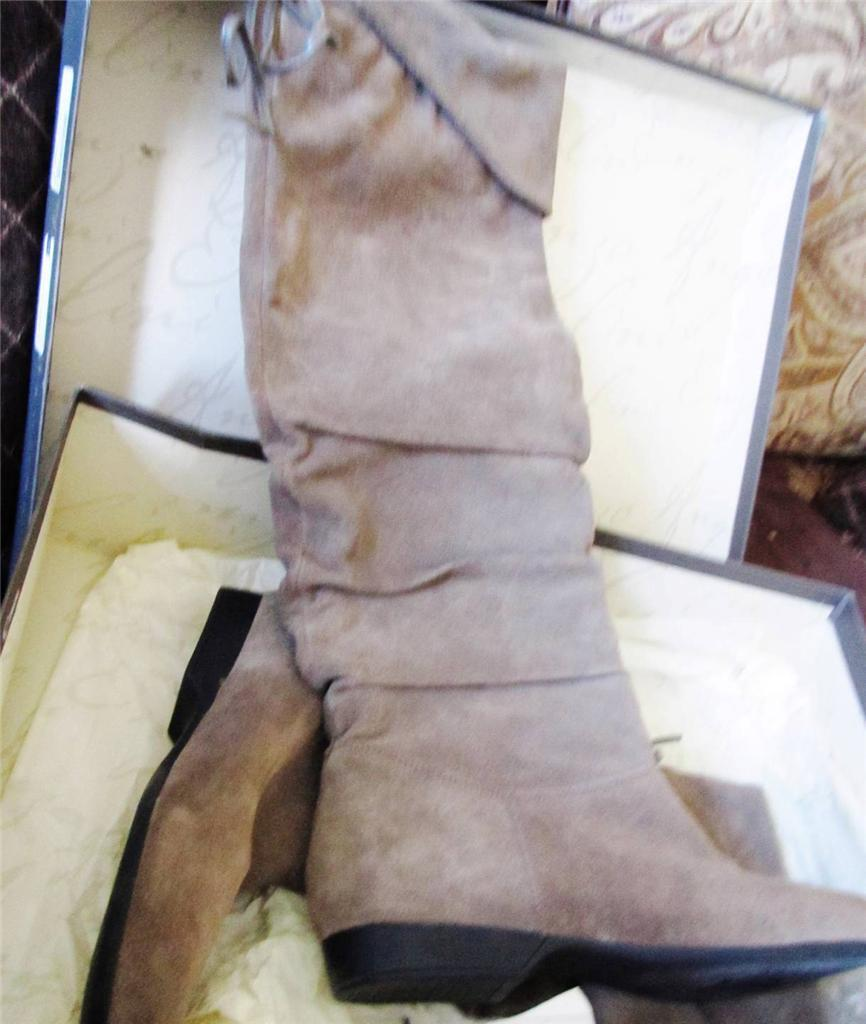 ENZO ANGIOLINI 159 ~NEW  159 ANGIOLINI TAUPE SUEDE ZAKARI OVER THE KNEE BOOTS SHOES SZ 6 M NIB 77c661