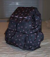 Lesportsac 8264 Explorer Backpack Dancing Bows D524 Hearts & Bows