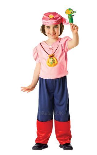 GIRLS IZZY JAKE NEVER LAND PIRATES DISNEY TV SHOW KID FANCY DRESS COSTUME OUTFIT