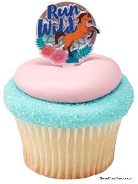 Spirit Run Wild Horse Cupcake Cake Topper Pics Party ~24 ...