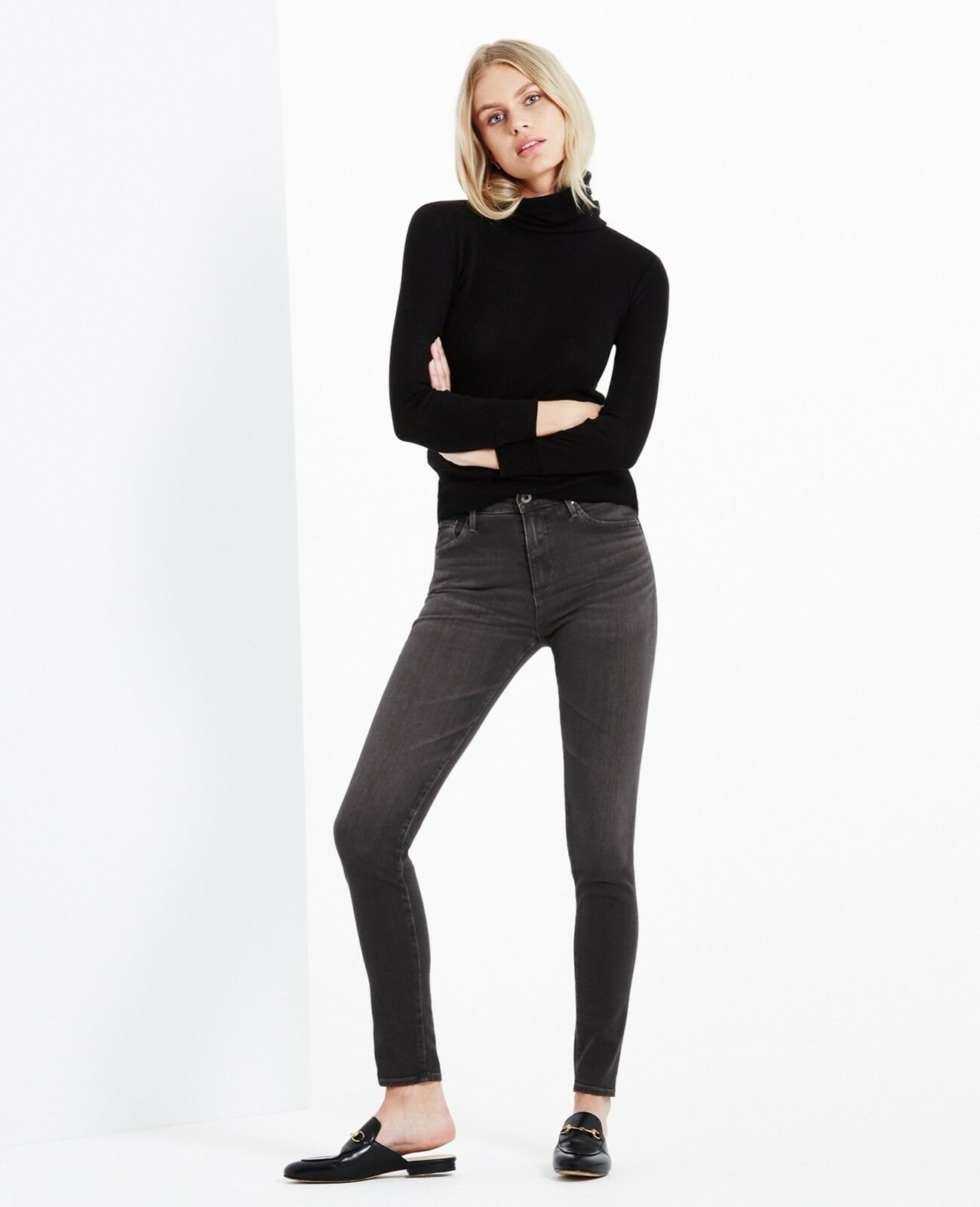 NWT, Adriano goldschmied THE FARRAH SKINNY, color-Grey mist,Size 29,  178