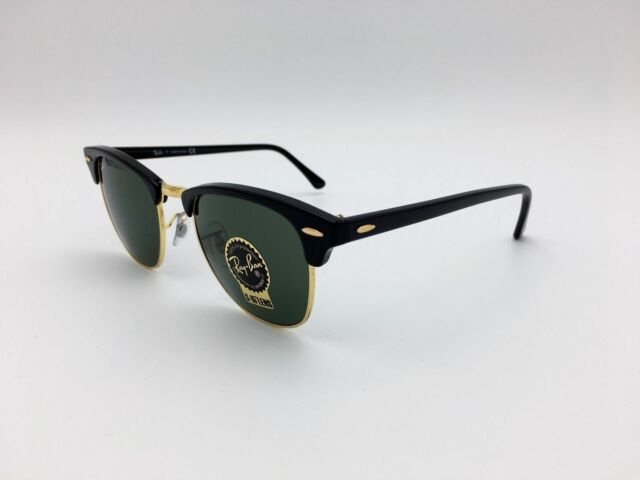 Ray Ban RB3016 51mm Clubmaster Sunglasses - Green (RB3016W036551)