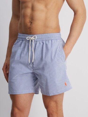 Bagno Pantaloncini bianco Taglia Blu Righe Ralph Uomo Da Polo Lauren Xxl OXTWHq