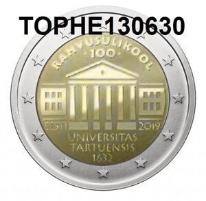 ESTONIE-COMMEMORATIVE-2019-034-UNIVERSITE-DE-TARTU-034-2-EURO-NEUVE-UNC