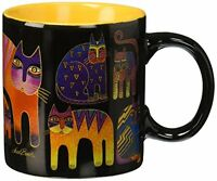 Laurel Burch Artistic Collection Mug, Fantastic Feline Totem, Multicolor, New, F on Sale