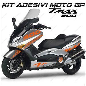 Consciencieux AdhÉsifs Sport CarÉnage Graphique Compatible Yamaha Tmax T Max 500 01/07 Orange Produits Vente Chaude