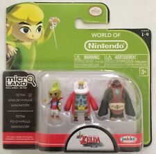World of Nintendo Micro Land Zelda Windwaker Tetra King of Hyrule & Gannondorf
