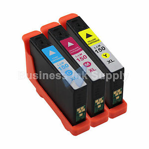 6 PACK 150XL New High Yield Compatible Ink Cartridge for LEXMARK 150XL BK+CMY