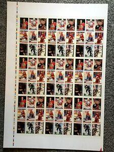 1993-Topps-Premier-Promo-Full-Uncut-Sheet-Patrick-Roy-Mark-Messier