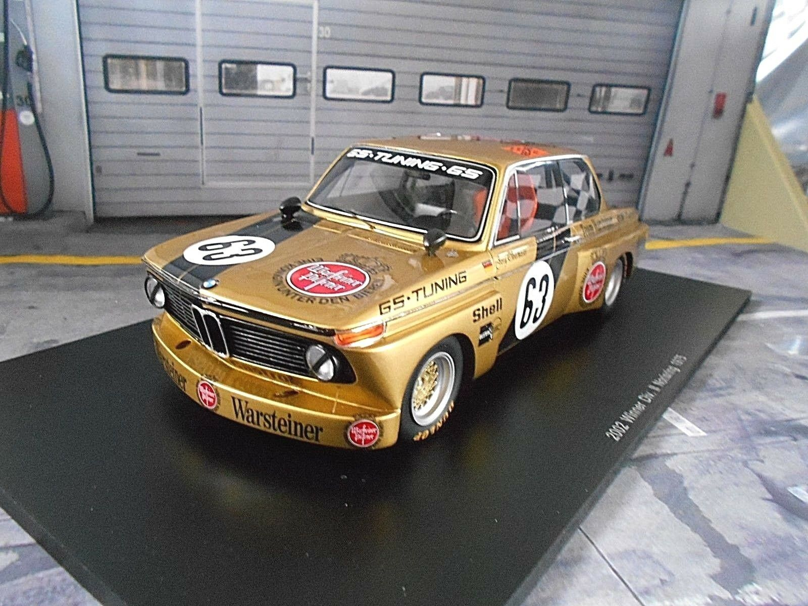 Bmw 2002 racing DRM eras una equipo GS  63 Ober Moser Norisring 1975 Spark 1 18