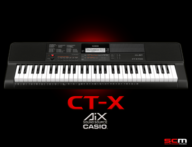 Casio CT-X700 Digital Portable Keyboard Package With AC Adaptor & Keyboard Stand